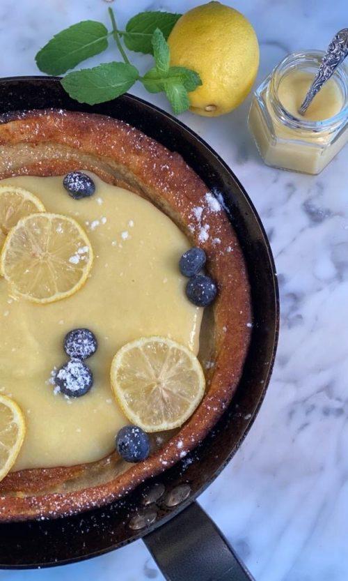 Dutch baby blueberry/lemon