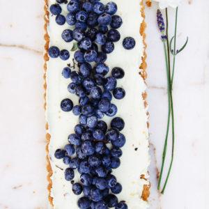 Blauwe bessen Mascarpone taartje