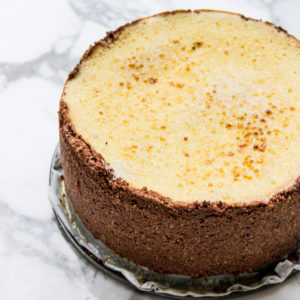 Chocolade vanille cheesecake