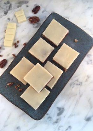Witte Chocola Blondie